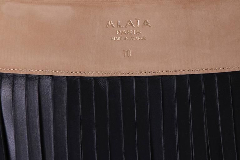 Iconic Alaia Black Leather Fringe Belt Circa 2001 5