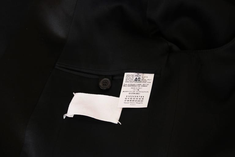 Martin Margiela Black Deconstructed Tuxedo Jacket For Sale 3