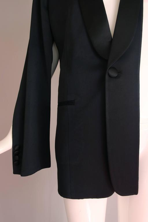 Martin Margiela Black Deconstructed Tuxedo Jacket For Sale 2