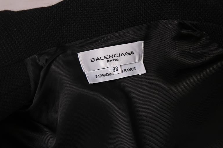 Balenciaga by Nicolas Ghesquiere Black Leather & Wool Motorcycle Jacket 6