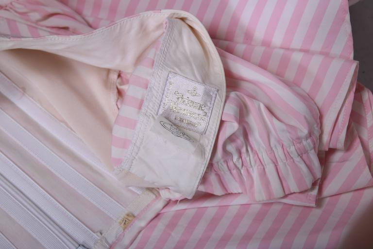 Vivienne Westwood Pink & White Striped Bustier Babydoll Dress Ca. 1992 6