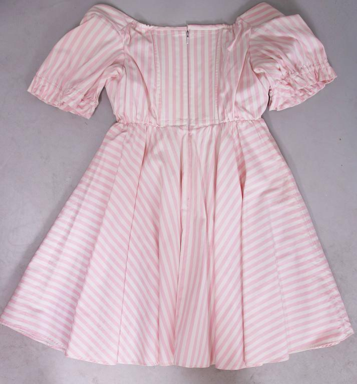 Vivienne Westwood Pink & White Striped Bustier Babydoll Dress Ca. 1992 5