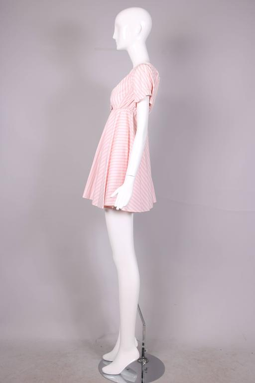 Vivienne Westwood Pink & White Striped Bustier Babydoll Dress Ca. 1992 3