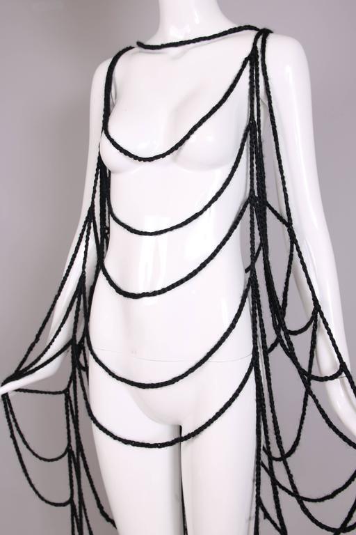 Maison Margiela Black Wool Spider Web Scarf 6