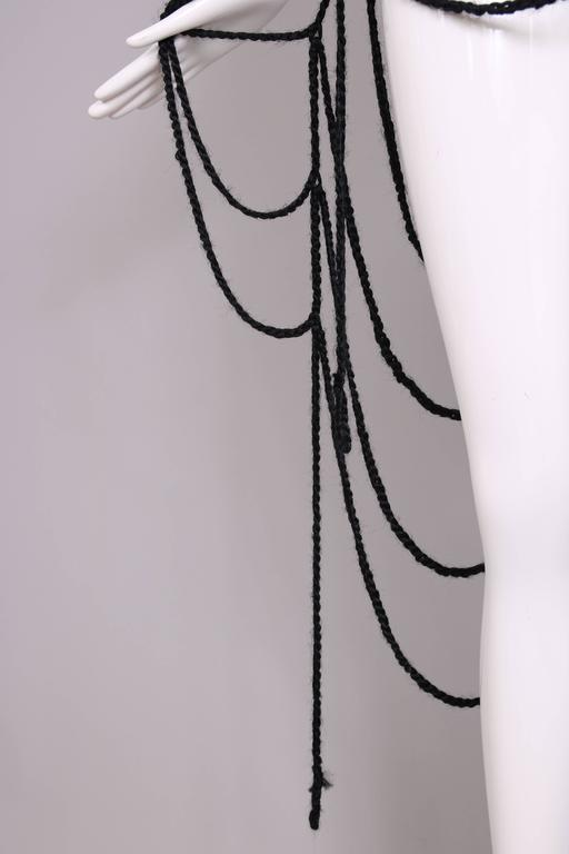 Maison Margiela Black Wool Spider Web Scarf 8