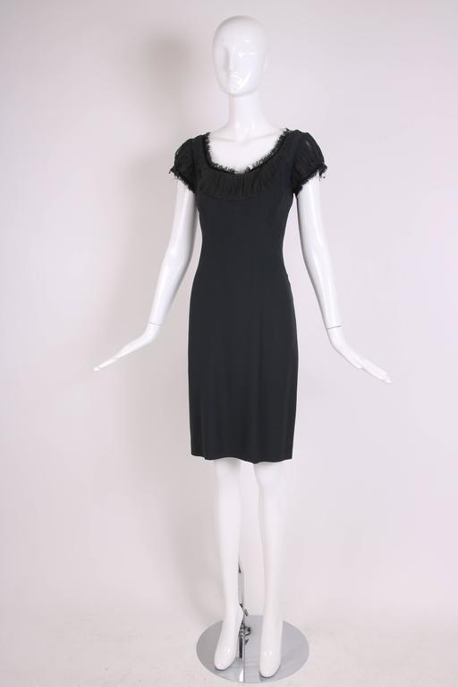 2010 Alexander McQueen Black Cocktail Dress  In Excellent Condition For Sale In Los Angeles, CA