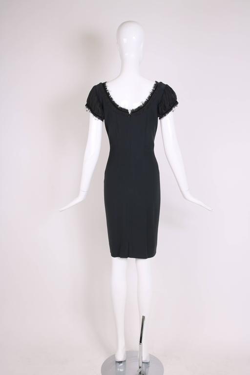 2010 Alexander McQueen Black Cocktail Dress  For Sale 1
