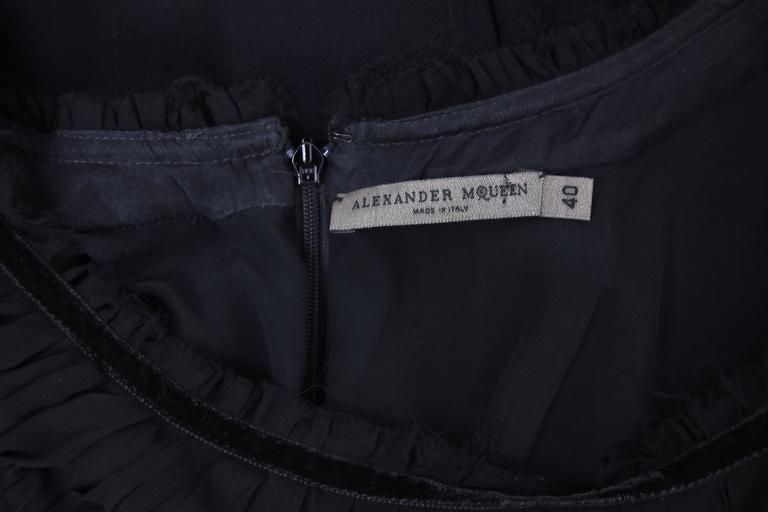 2010 Alexander McQueen Black Cocktail Dress  For Sale 3