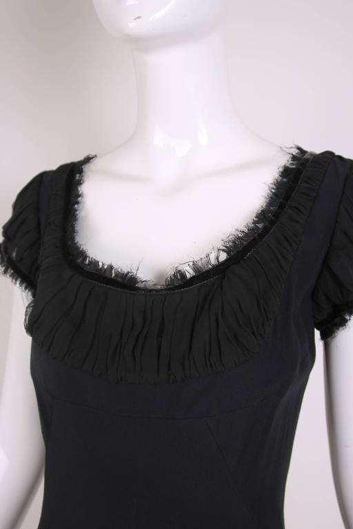 2010 Alexander McQueen Black Cocktail Dress  For Sale 2