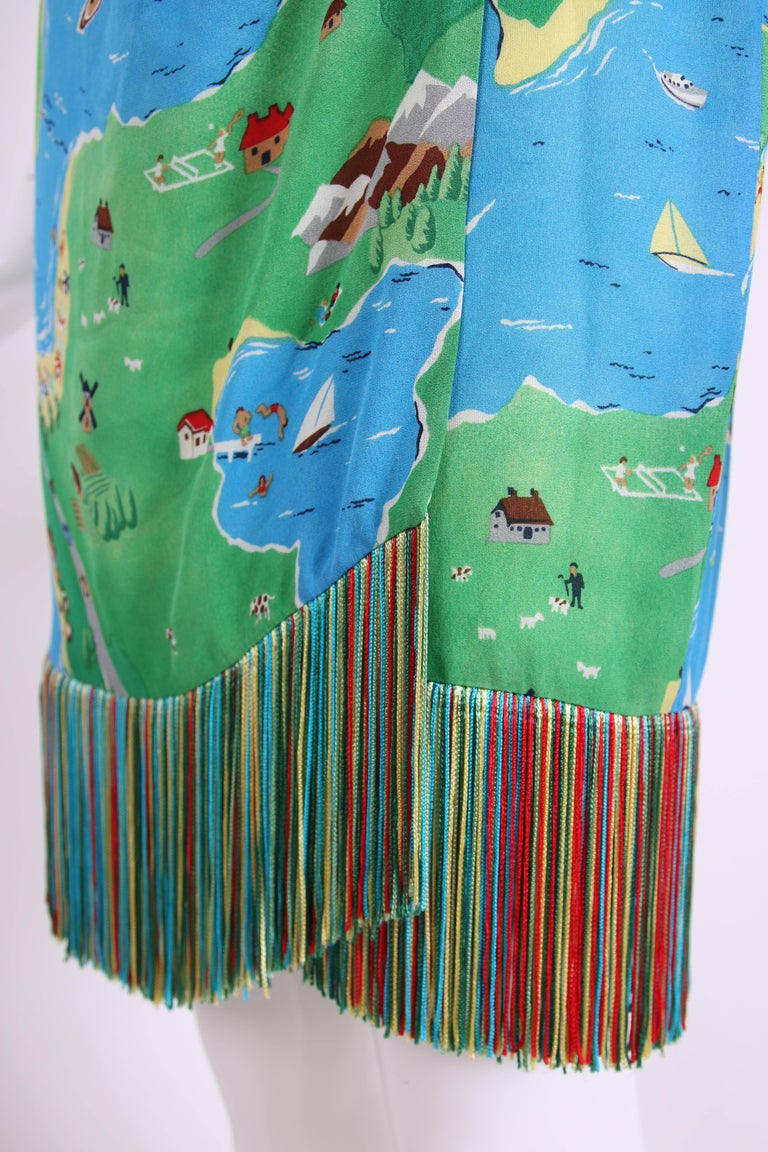 1992 S/S Perry Ellis by Marc Jacobs Novelty Print Silk ...
