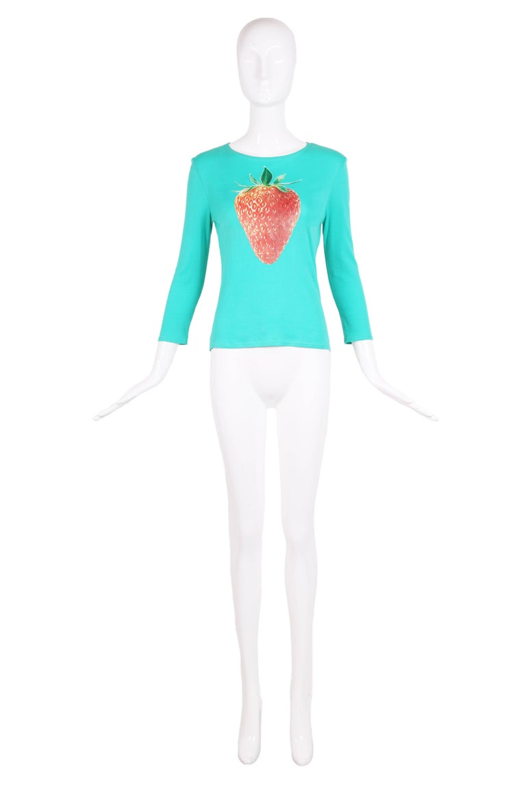 Chloe by Stella McCartney Cotton Long Sleeved T-Shirt w/Strawberry Graphic 2