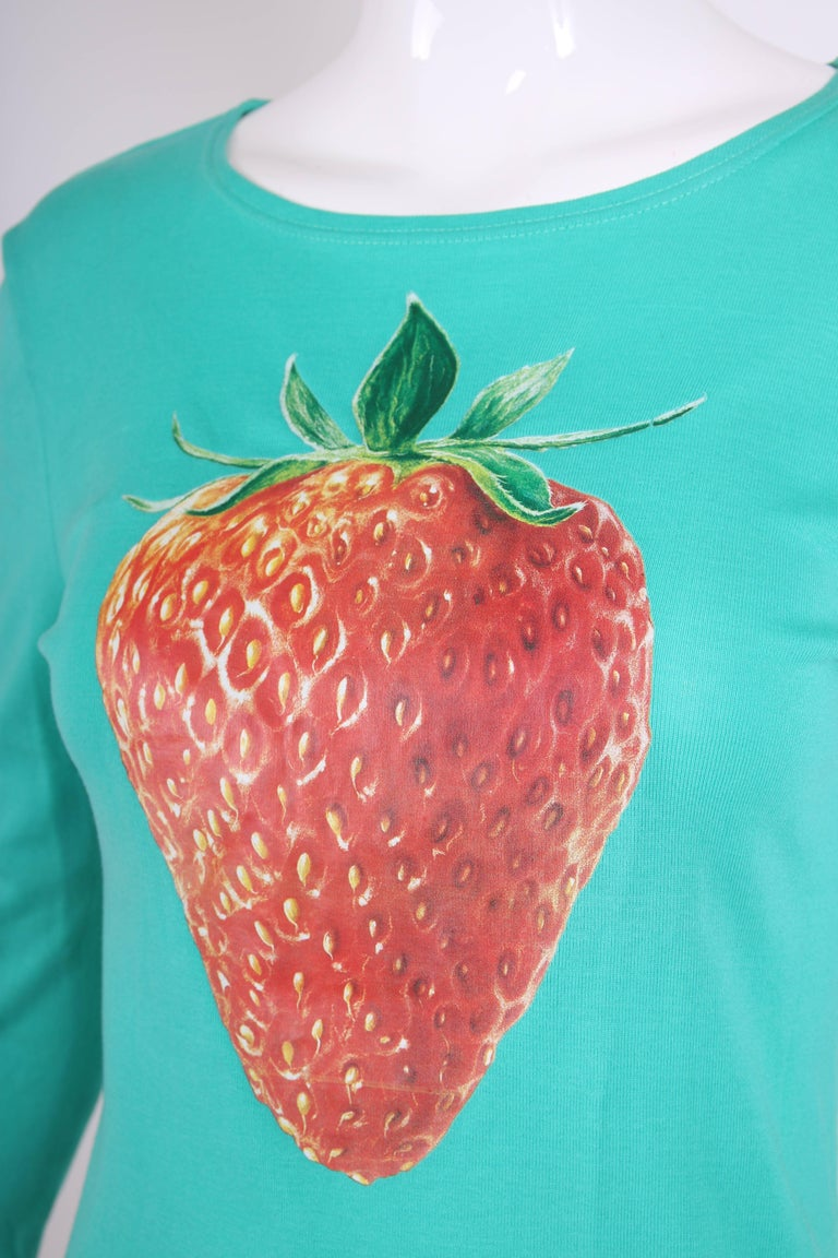 Chloe by Stella McCartney Cotton Long Sleeved T-Shirt w/Strawberry Graphic 7