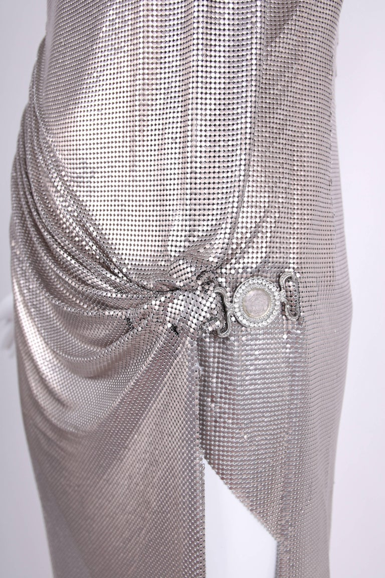 Gianni Versace Couture Oroton Silver Chainmail Gown W