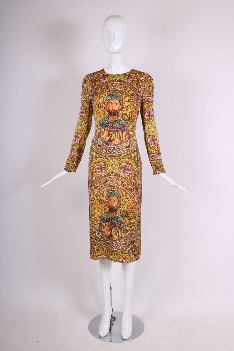 2013 Dolce & Gabbana Mosaic Collection Silk Dress w/Icon Graphic NWT 3