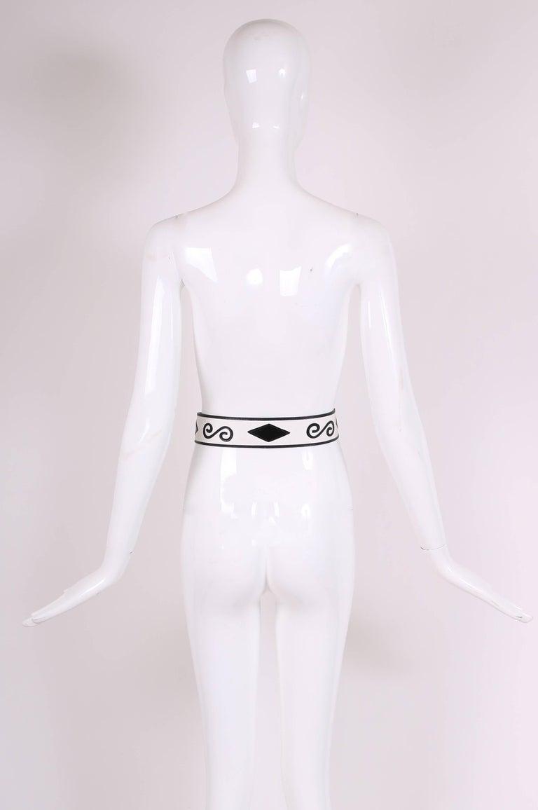 Black 1970's Yves Saint Laurent YSL Haute Couture Leather Belt For Sale