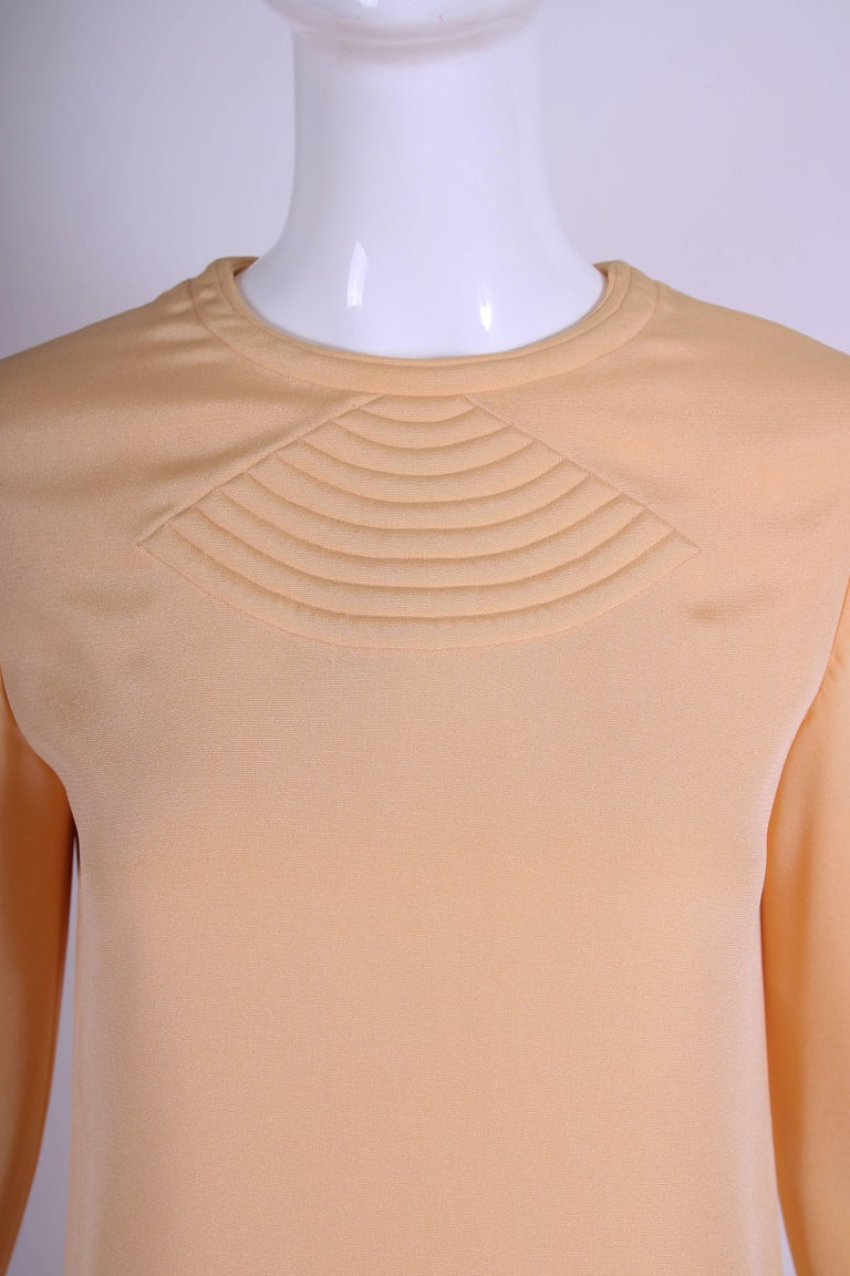 Pierre Cardin Mod Space Age Mini Dress with Geometric Design, 1970s  For Sale 2