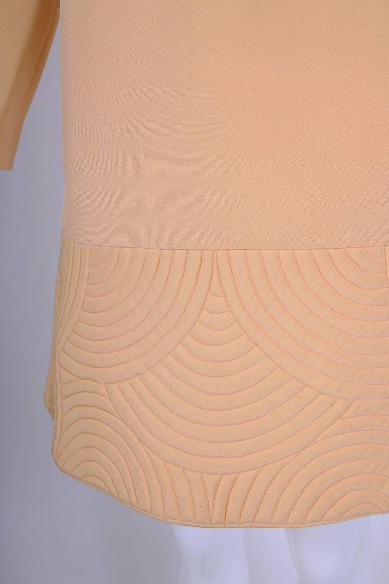 Pierre Cardin Mod Space Age Mini Dress with Geometric Design, 1970s  For Sale 1