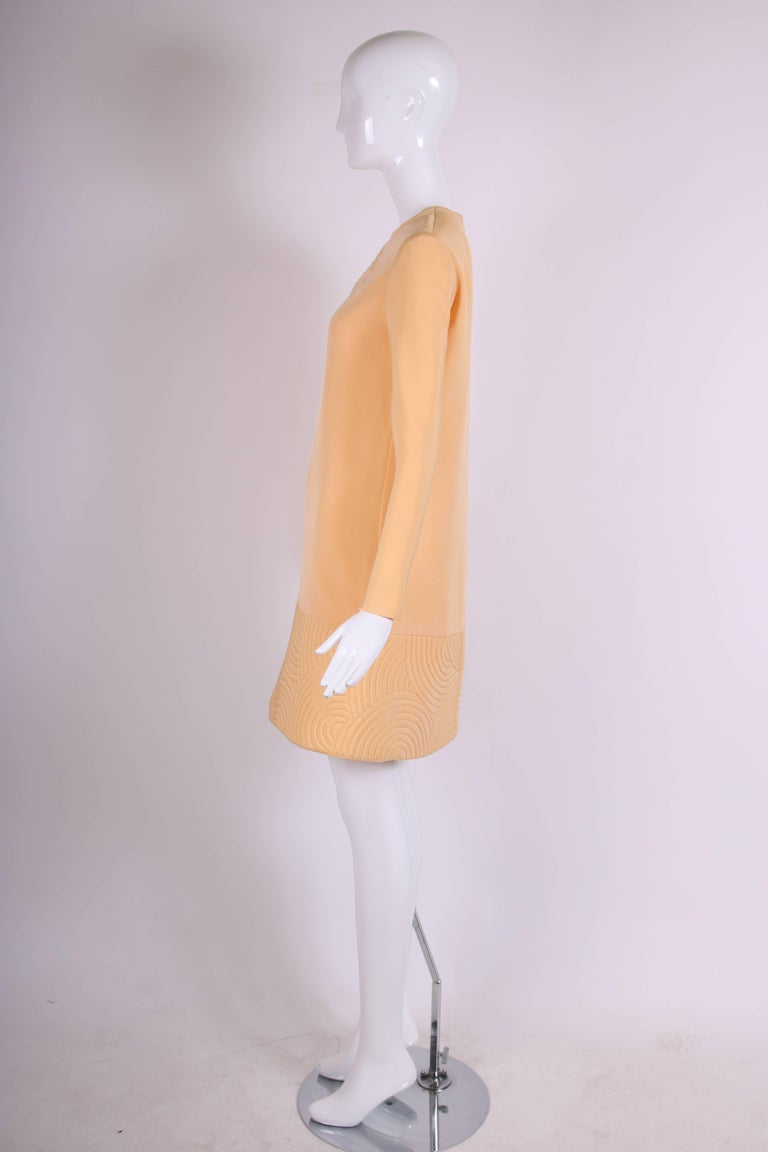 Pierre Cardin Mod Space Age Mini Dress with Geometric Design, 1970s  In Excellent Condition For Sale In Los Angeles, CA