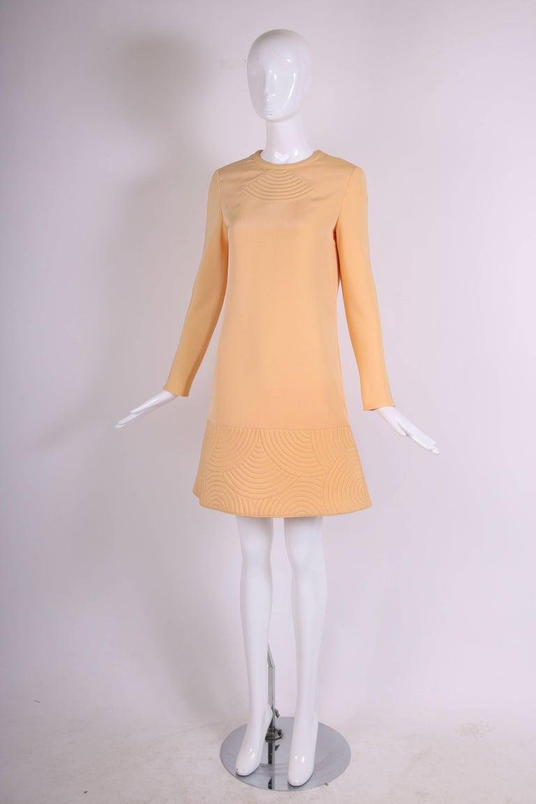 Orange Pierre Cardin Mod Space Age Mini Dress with Geometric Design, 1970s  For Sale