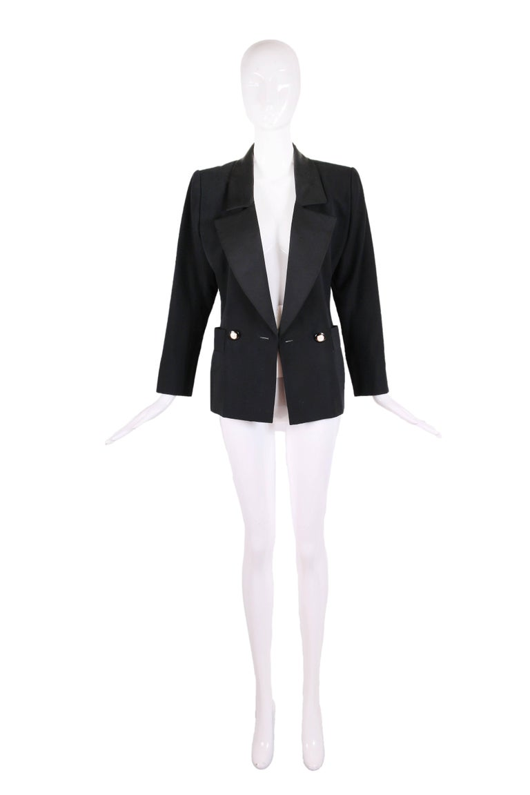 "Yves Saint Laurent YSL Haute Couture ""Le Smoking"" Tuxedo Jacket & Skirt No.64222 3"