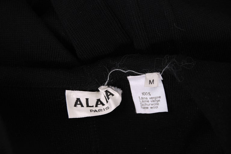 Alaia Museum Quality Black Hooded And Zippered Bodycon Dress, 1986 For Sale 4