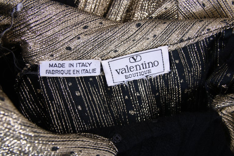 Vintage Valentino Sweater w/One Side in Black Wool & the Other Gold Lame w/Ties 8