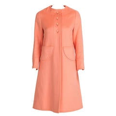 Philippe Venet Haute Couture Melton Wool Coat ca. 1970