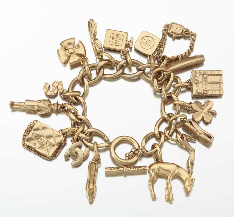 2002 Chanel Charm Bracelet With 16 Iconic Charms 2