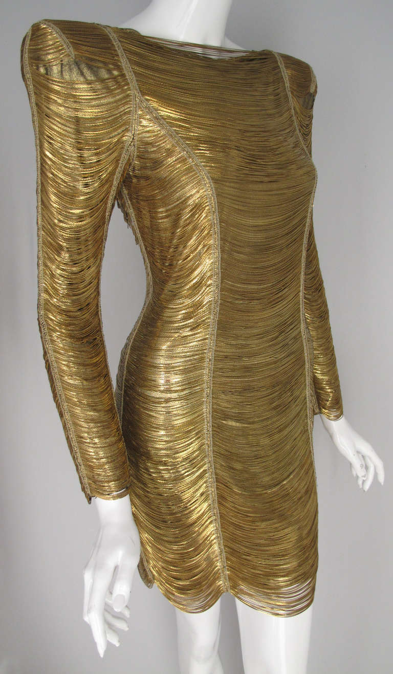 2010 Iconic Balmain Gold Chain Dress 2