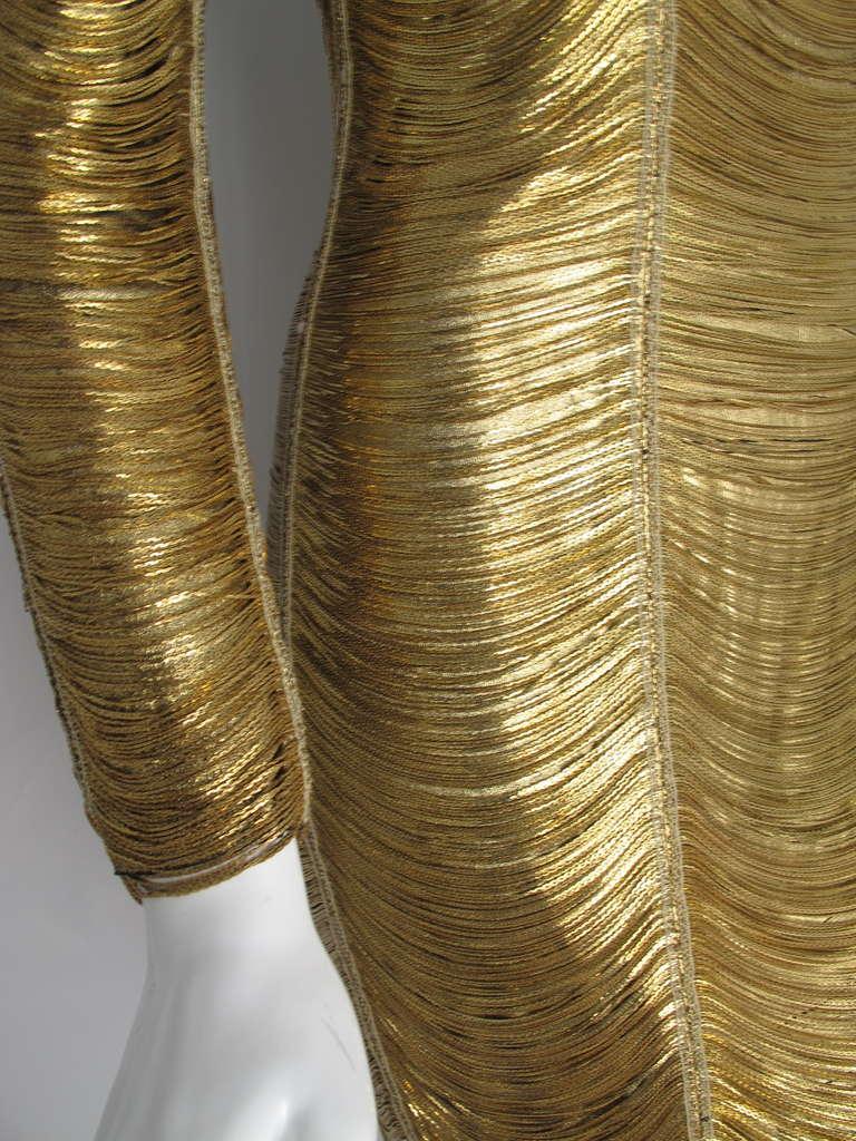 2010 Iconic Balmain Gold Chain Dress 3