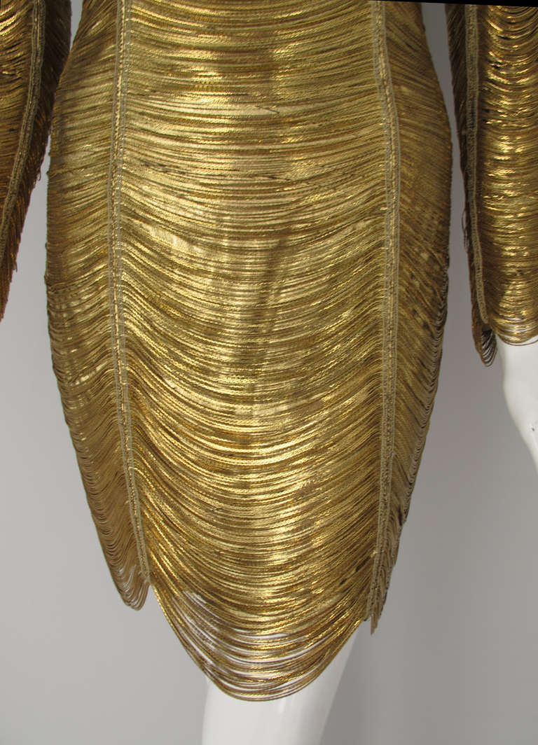 2010 Iconic Balmain Gold Chain Dress 4