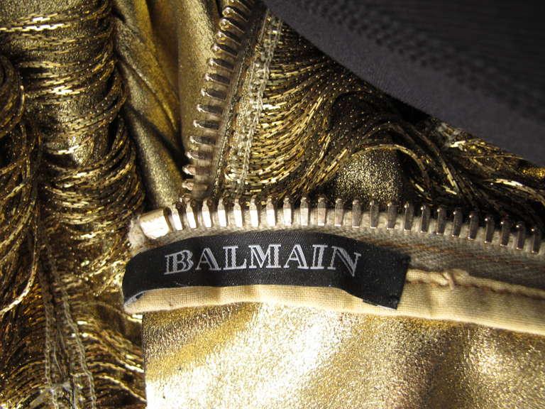2010 Iconic Balmain Gold Chain Dress 6