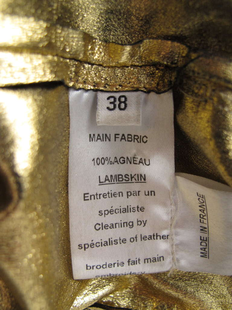 2010 Iconic Balmain Gold Chain Dress 7