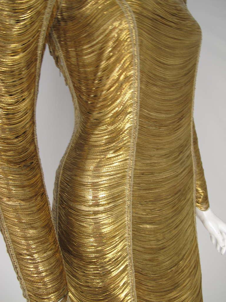 2010 Iconic Balmain Gold Chain Dress 5