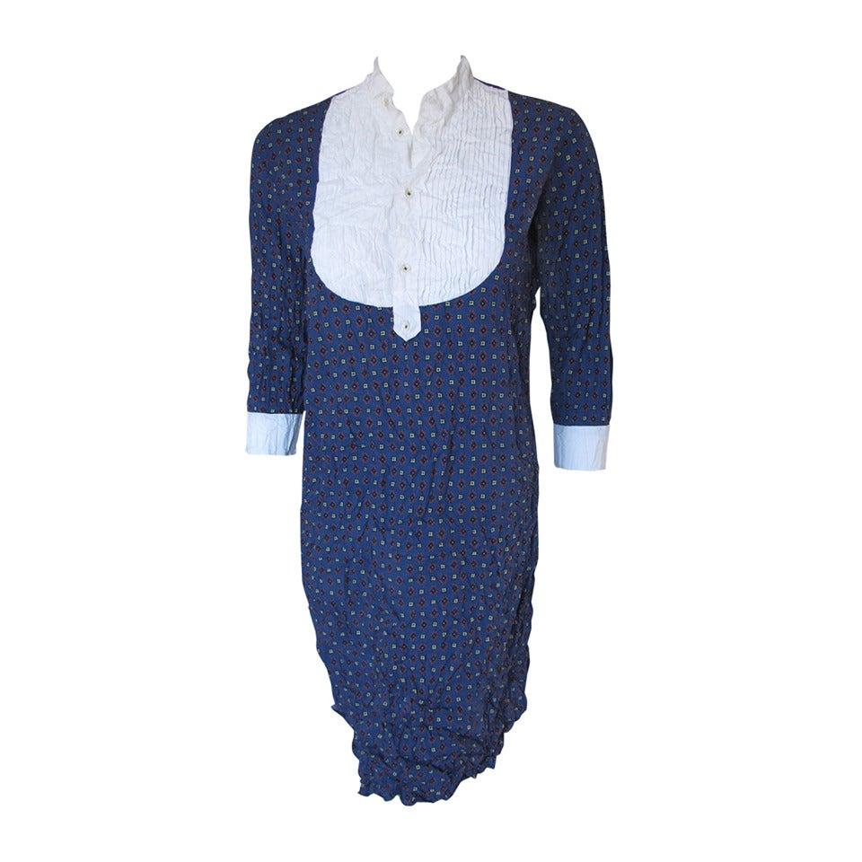 Junya watanabe for comme des gar ons crinkled tuxedo shirt for Tuxedo shirt vs dress shirt