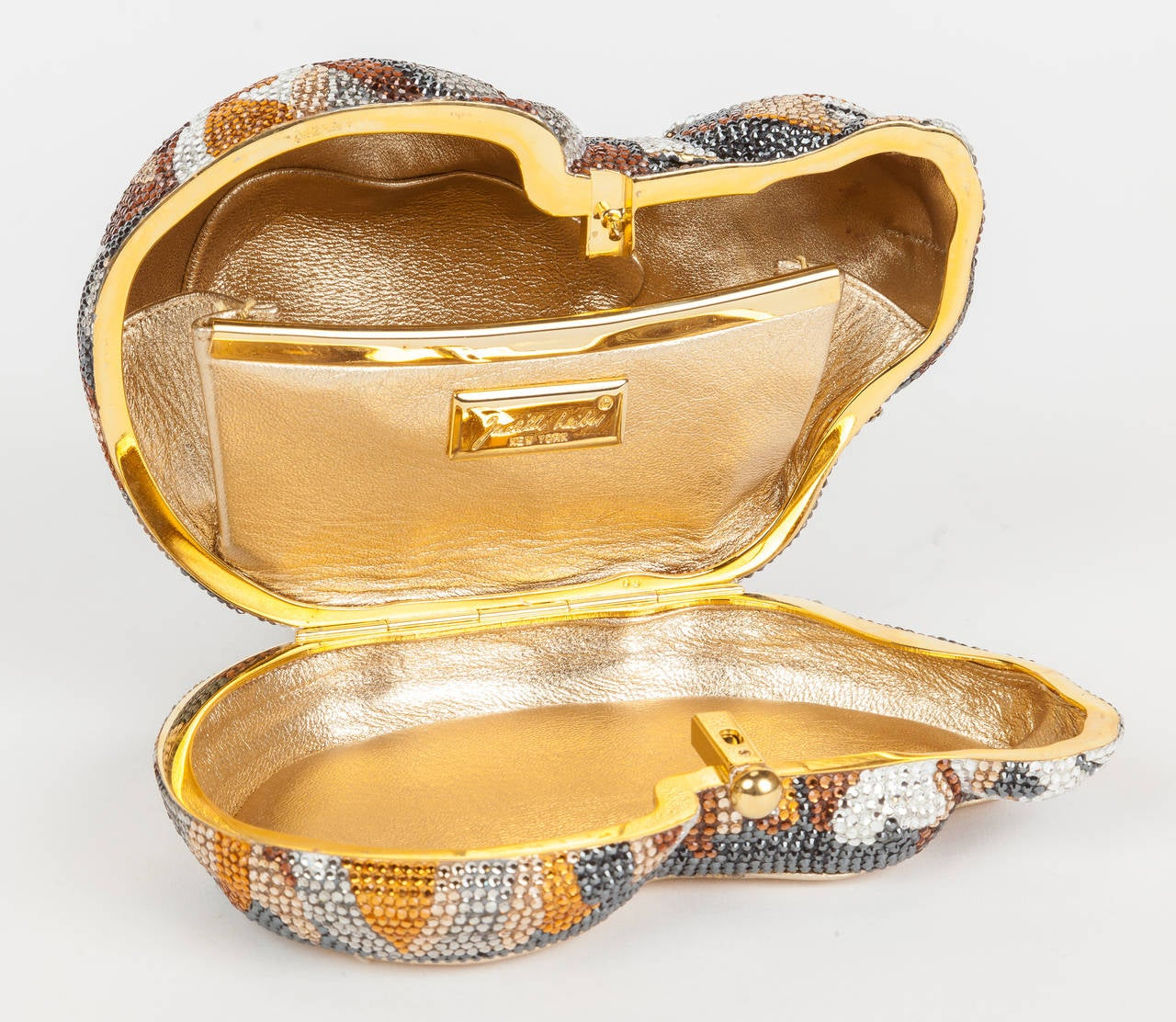 Iconic Judith Leiber Sleeping Cat Jeweled Crystal Minaudière Clutch Bag 4