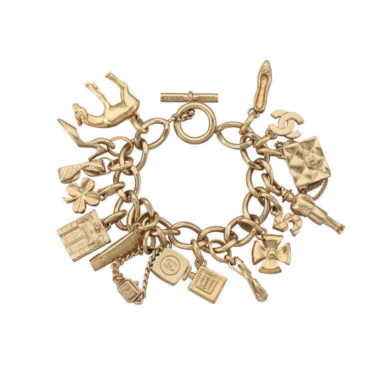 2002 Chanel Charm Bracelet With 16 Iconic Charms 1