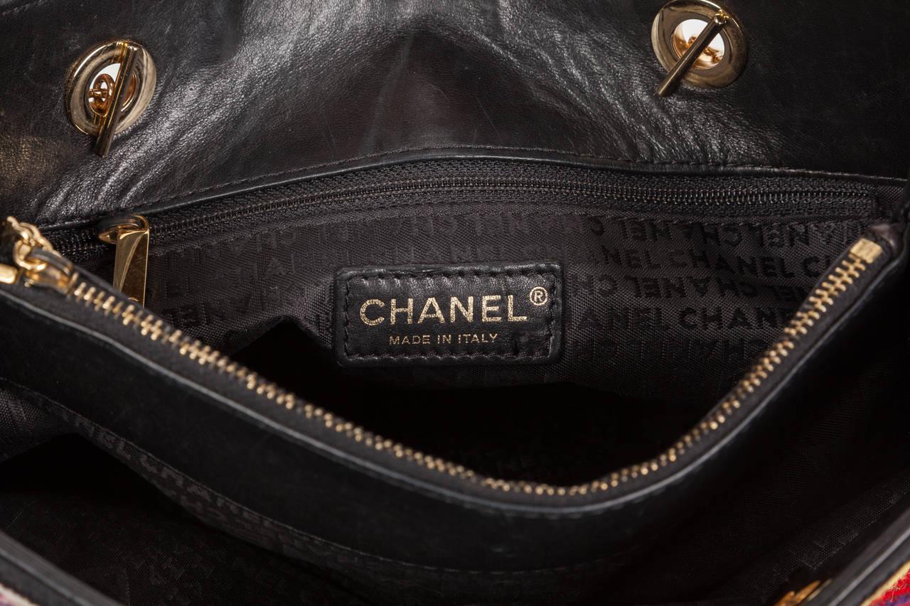 8a95de233120 Rare Chanel Precious Symbols Needlepoint Shoulder Bag Shopper Tote In  Excellent Condition For Sale In Los
