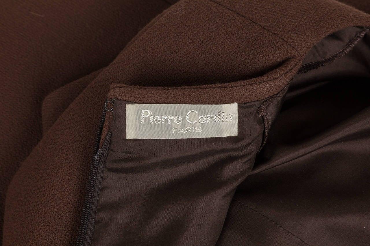 Avant Garde Pierre Cardin Haute Couture Asymmetric Wool Cocktail Dress ca. 1992 For Sale 2