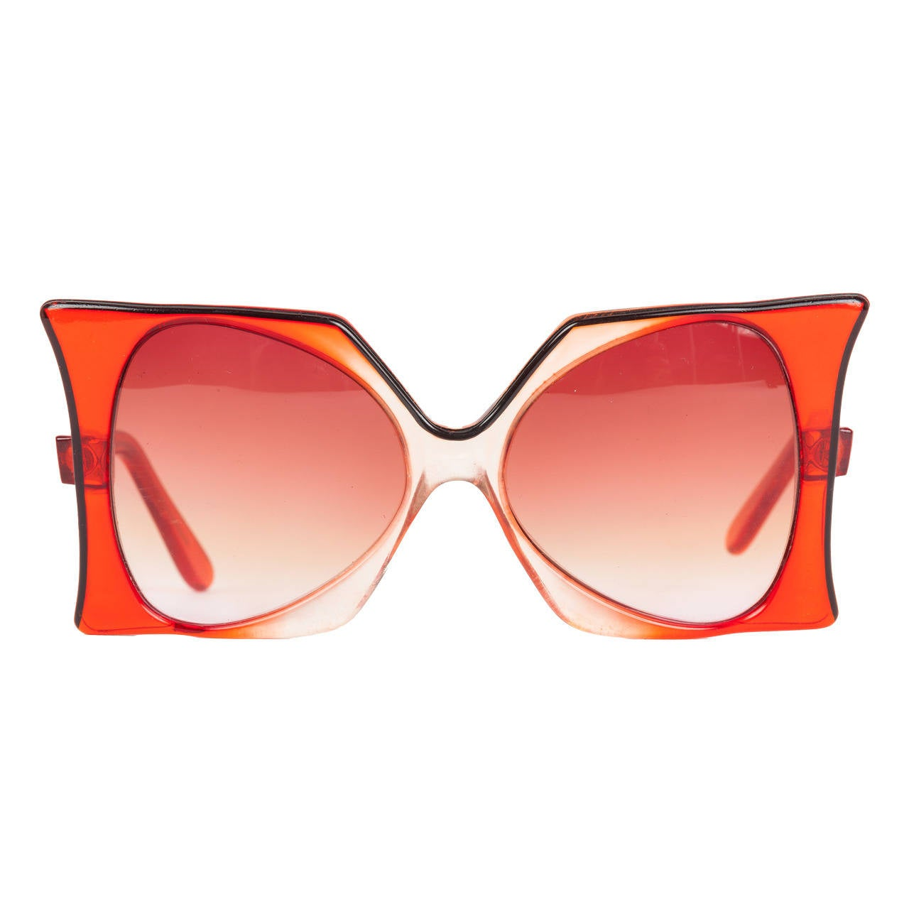 "1960's Iconic Pierre Cardin Oversize Red ""Delphine"" Sunglasses 1"