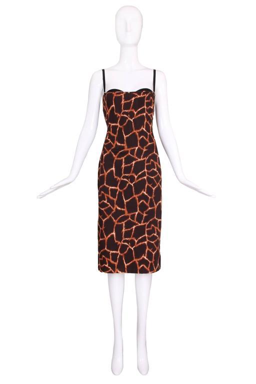 Dolce & Gabbana Giraffe Print Bustier Dress 2