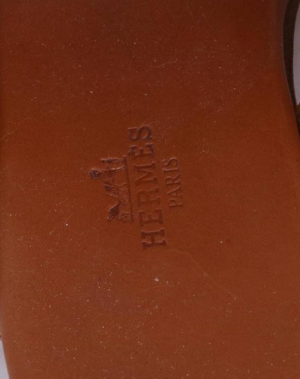 Vintage Hermes Leather Thong Sandals 4