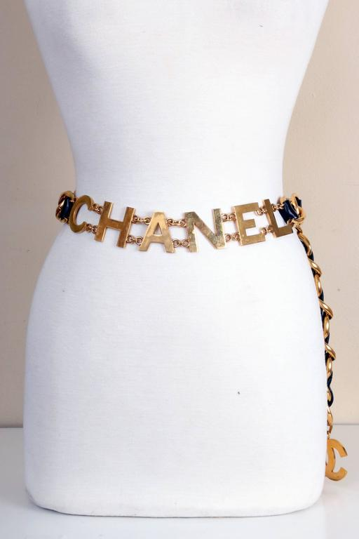 Chanel Leather & Chain C O C O  C H A N E L Belt 2