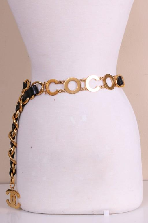 Chanel Leather & Chain C O C O  C H A N E L Belt 3
