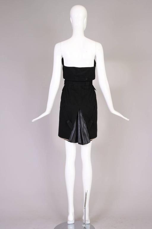 Antonio Berardi Black Strapless Belted Mini Dress For Sale 2