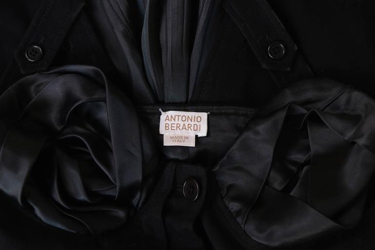 Antonio Berardi Black Strapless Belted Mini Dress For Sale 4