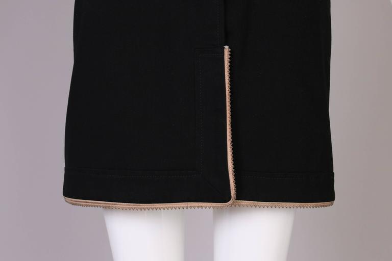 Antonio Berardi Black Strapless Belted Mini Dress For Sale 3