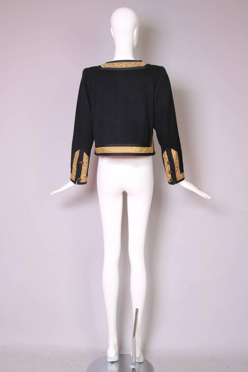 1970's Yves Saint Laurent YSL Russian Collection Jacket w/Brocade Trim 5