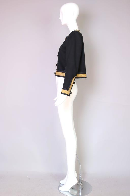 1970's Yves Saint Laurent YSL Russian Collection Jacket w/Brocade Trim 4