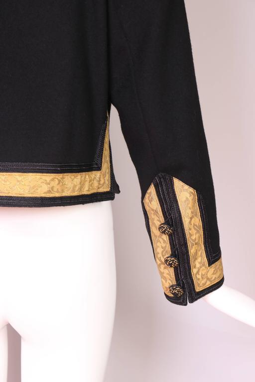 1970's Yves Saint Laurent YSL Russian Collection Jacket w/Brocade Trim 7